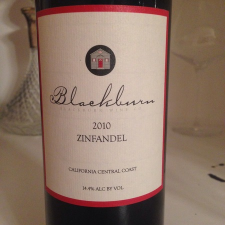 Blackburn Wine Co. Central Coast Zinfandel 2014