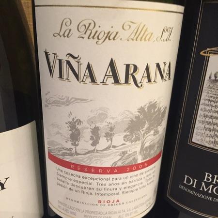 La Rioja Alta Viña Arana Reserva Rioja Tempranillo Blend 2009