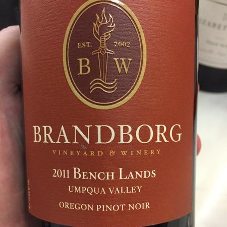 Brandborg Bench Lands Pinot Noir 2014