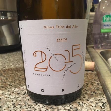 J.A. Jofré Vinos Fríos del Año Tinto Lontué Carménère Blend 2015