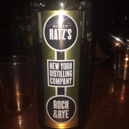 New York Distilling Company Mister Katz's Rock & Rye NV