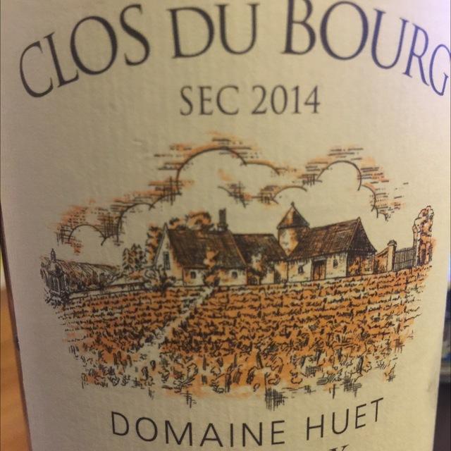 Clos du Bourg Sec Vouvray Chenin Blanc 2014