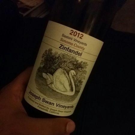 Joseph Swan Vineyards Bastoni Vineyards Zinfandel 2012