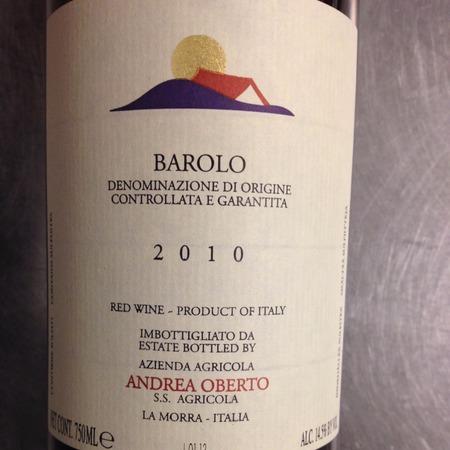 Andrea Oberto Barolo Nebbiolo 2010