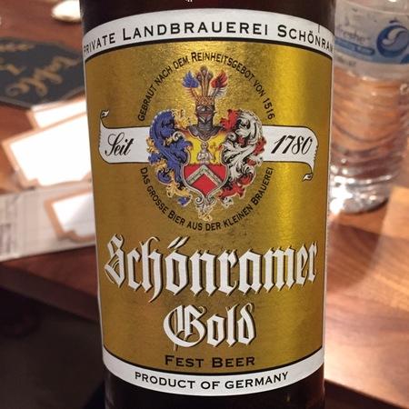 Private Landbrauerei Schönram Schönramer Gold Fest Beer NV (500ml)