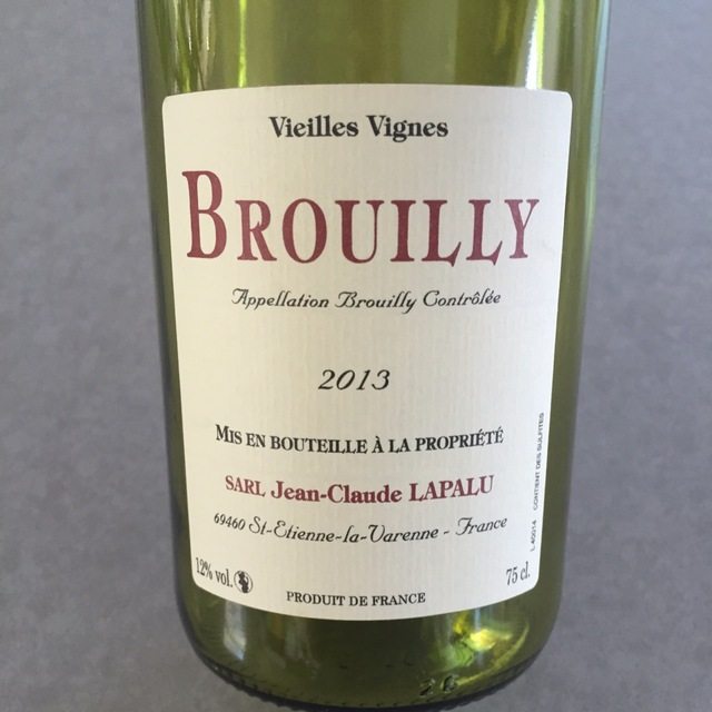 Vieilles Vignes Brouilly Gamay 2013