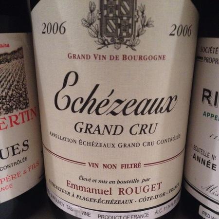 Emmanuel Rouget Echezeaux Grand Cru Pinot Noir 2006