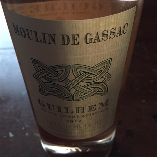 Moulin de Gassac Guilhem Rosé Grenache Blend 2015