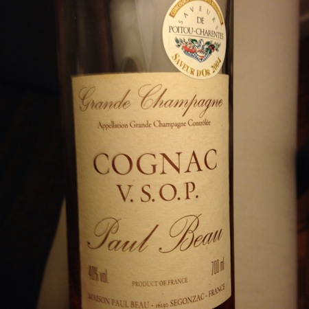 Paul Beau VSOP Cognac Grande Champagne NV