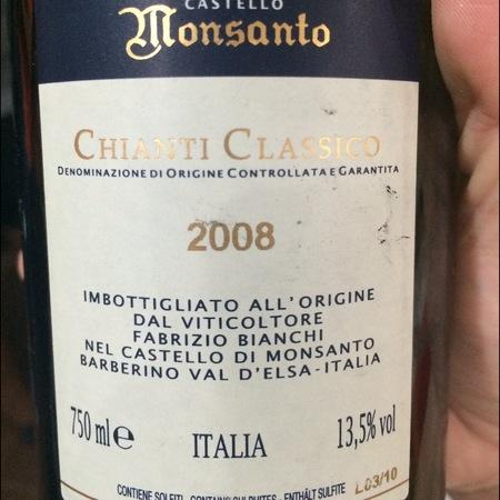 Castello di Monsanto Chianti Classico Sangiovese Blend 2008