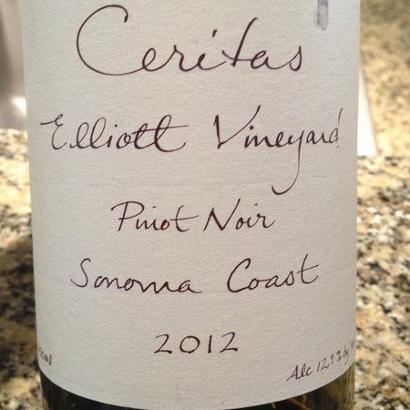 Ceritas Elliott Vineyard Pinot Noir 2015