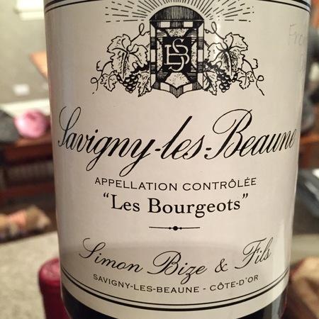 Simon Bize & Fils Les Bourgeots Savigny-lès-Beaune Pinot Noir 2015