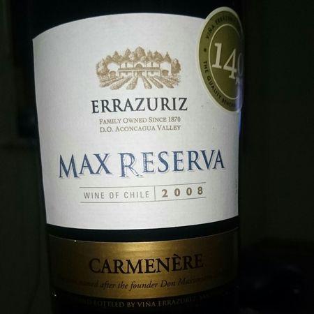 Errazuriz Max Reserva Carmenere  2015