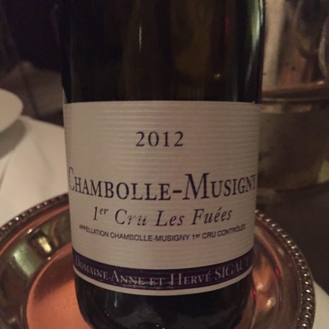 Les Fuées Chambolle-Musigny 1er Cru Pinot Noir 2012