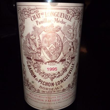 Château Pichon-Longueville Baron de Pichon-Longueville Pauillac Red Bordeaux Blend 1995 (1500ml)