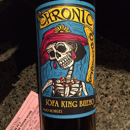 Chronic Cellars Sofa King Bueno Paso Robles Syrah Blend