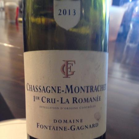 Domaine Fontaine-Gagnard La Romanée Chassagne-Montrachet 1er Cru Chardonnay 2013
