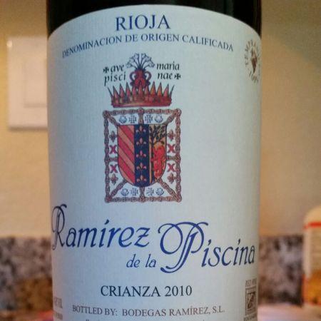 Bodegas Ramirez Ramirez de la Piscina Crianza Rioja Tempranillo Blend 2013