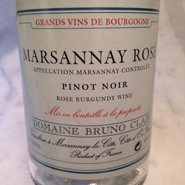 Marsannay Pinot Noir Rosé  2014