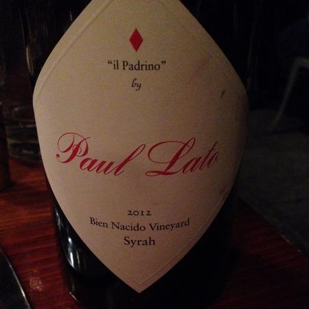"""Paul Lato """"Il Padrino"""" Bien Nacido Vineyard Syrah 2012"""