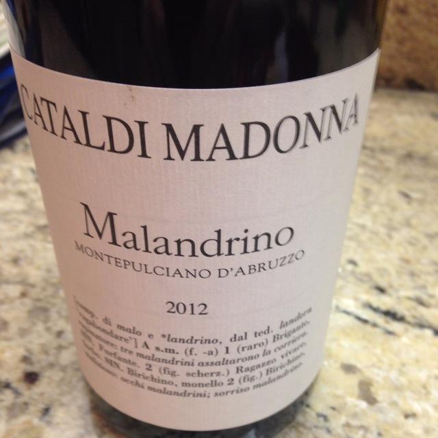 Malandrino Montepulciano d'Abruzzo 2014