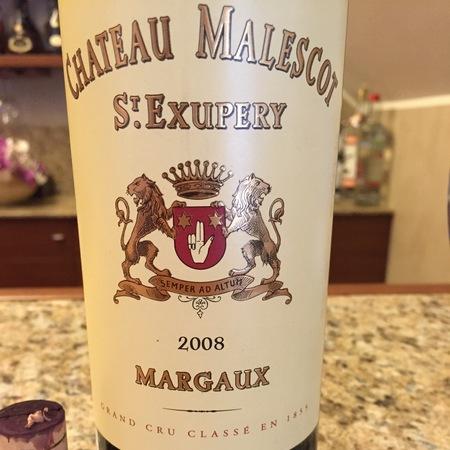 Château Malescot St. Exupéry Margaux Red Bordeaux Blend 2008