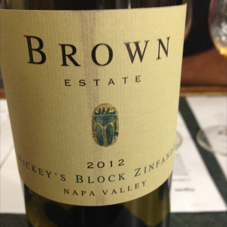 Brown Estate Mickey's Block Zinfandel 2015