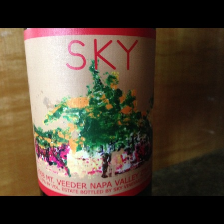 Sky Vineyards Mount Veeder Syrah