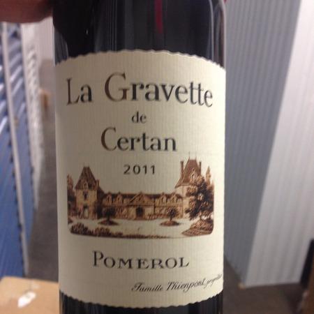 Vieux Château Certan La Gravette de Certan Pomerol Red Bordeaux Blend 2011