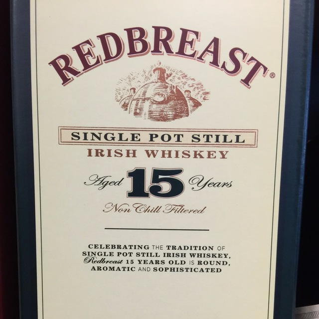 Redbreast Aged 15 Years Single Pot Still Irish Whiskey NV