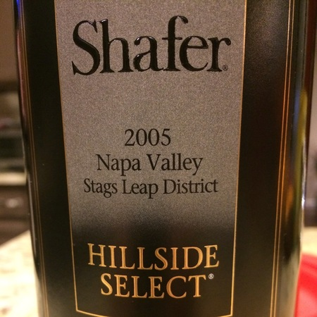 Shafer Hillside Select Stags Leap District Cabernet Sauvignon 2005