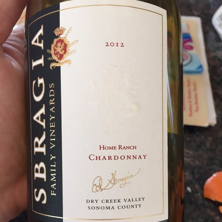 Sbragia Family Vineyards Home Ranch Chardonnay  2016