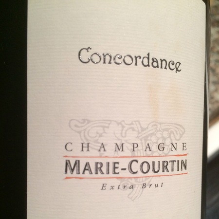 Marie Courtin Concordance Extra Brut Champagne  2012