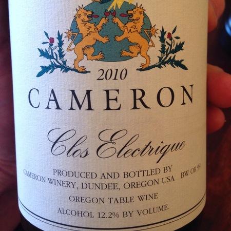 Cameron Winery Clos Electrique Chardonnay 2015