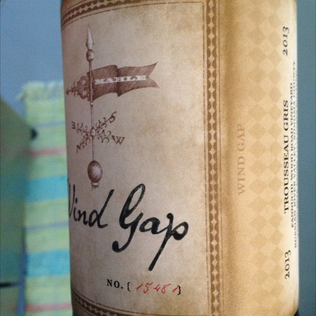 Wind Gap Wines Sonoma Coast Syrah 2013