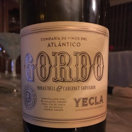 Compaña De Vinos Atlantico Gordo Monastrell Cabernet Sauvignon 2012