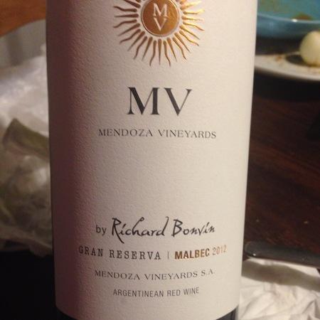 Mendoza Vineyards Gran Reserva Mendoza Malbec 2012