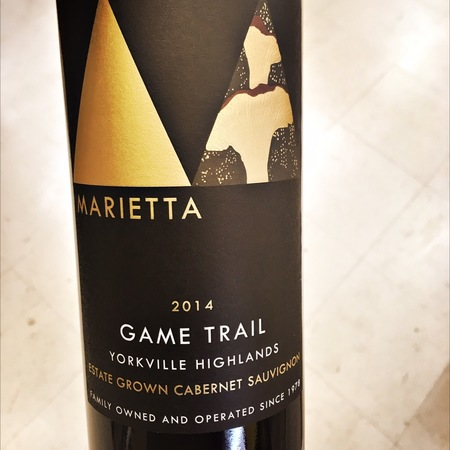 Marietta Game Trail Yorkville Highlands Estate Grown Cabernet Sauvignon 2014