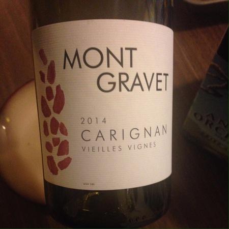 Mont Gravet Vieilles Vignes Carignan 2016