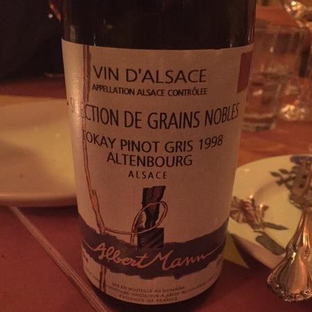 Albert Mann Sélection de Grains Nobles Altenbourg Tokay Pinot Gris 2001 (375ml)