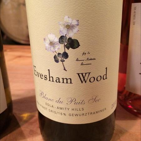 Evesham Wood Blanc du Puits Sec Eola-Amity Hills Pinot Gris Blend 2013