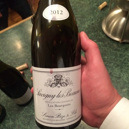 Simon Bize & Fils Les Bourgeots Savigny-lès-Beaune Pinot Noir 2012