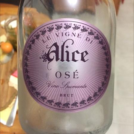 Le Vigne di Alice Osé Brut Rosé Spumante Glera Marzemino NV