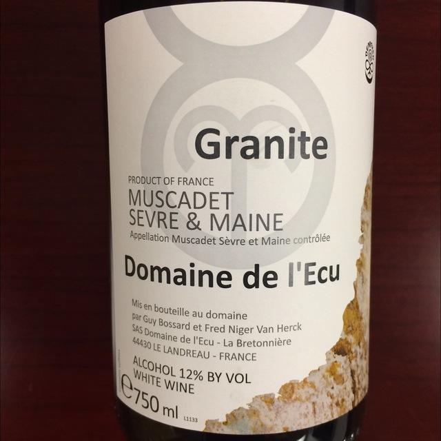 Granite Muscadet de Sèvre-et-Maine Melon de Bourgogne 2014