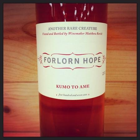 Forlorn Hope Kumo to Ame Dewitt Vineyard Rosé Blend 2013