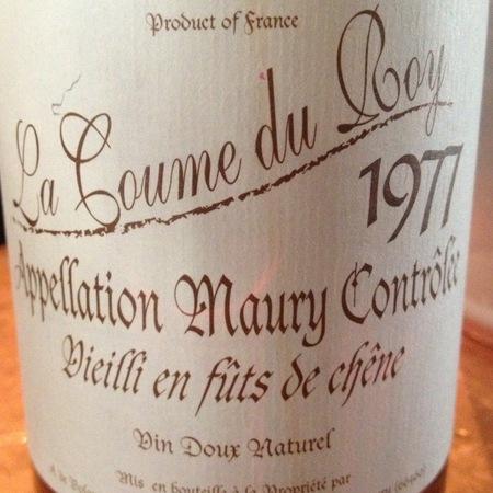 Domaine de la Coume du Roy Maury Grenache Blend 1977 (500ml)
