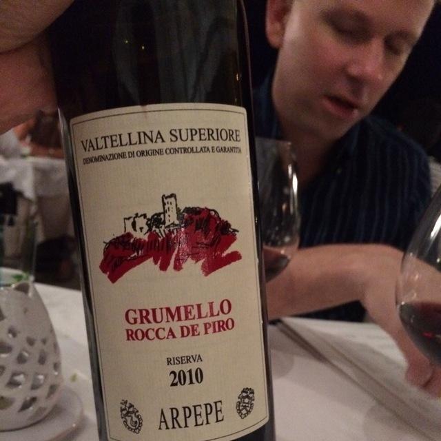 Riserva Rocca de Piro Grumello Valtellina Superiore Nebbiolo 2010