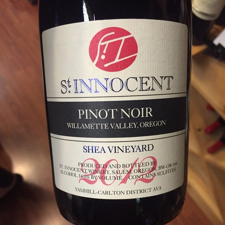 St Innocent Winery Shea Vineyard Pinot Noir 2014