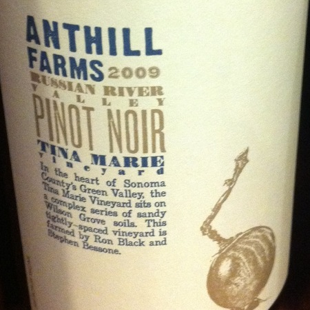 Anthill Farms Tina Marie Vineyard Pinot Noir 2009
