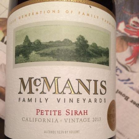 McManis Family Vineyards California Petite Sirah NV